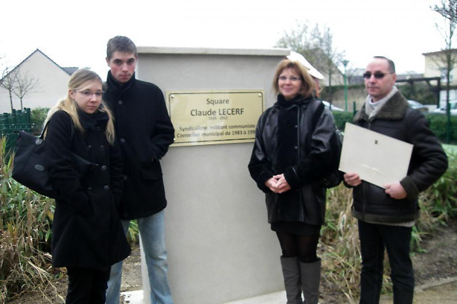 Inauguration du square Claude Lecerf - Nogent-sur-Oise, 8 décembre 2012