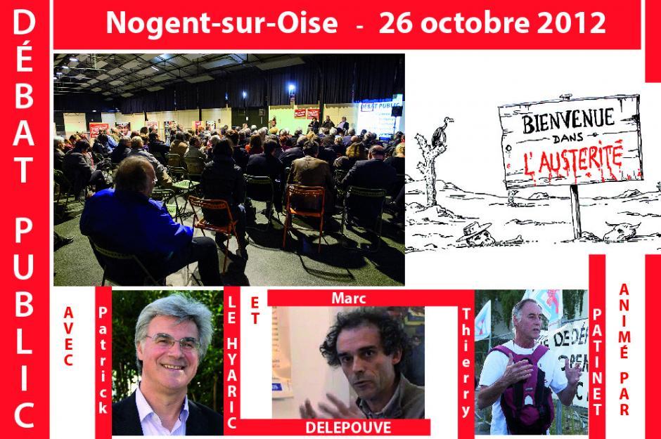 Le débat public sur l'austérité rencontre… le public ! - Nogent-sur-Oise, 26 octobre 2012